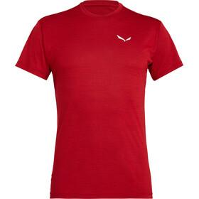 SALEWA Puez Melange Dry t-shirt Heren, tango red melange